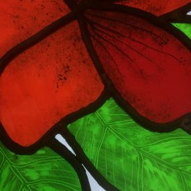 Stained Glass Panel Ruby Red