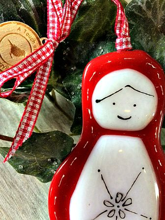 Babushka Glass Christmas Decoration