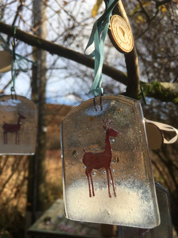 Little Stag in the Snow Decoration