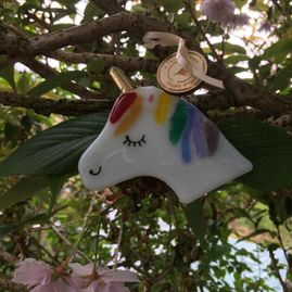 Unicorn Fused Glass Decoration